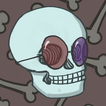 Skull with cool glasses by astamite