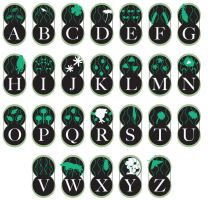 botanical alphabet by toybreaker