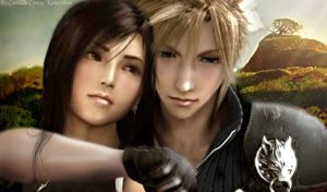 Cloud and Tifa-manipulated by Advent1989