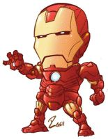 quick Iron Man color by dekarogue