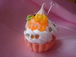 Orange Love Cupcake by Lustfulwish