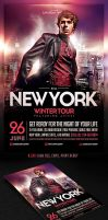 NYC Electro House Dj Flyer Template by saltshaker911