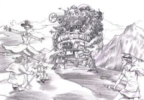 Howl's Moving Castle by Dreee