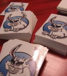 Bad Bunny Mascot stickers by ATLbladerunner