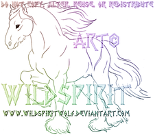 Fivin Draft Horse Sketch Commission by WildSpiritWolf