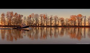 Tugboat in Autumn by Val-Faustino