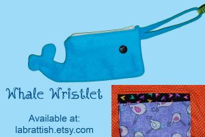 Whale of a Tale Wristlet by labrattish