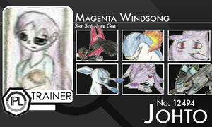 Magenta Windsong Trainer Card 2.0v by MillenniumUmbreon