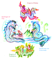 GREEK MYTHICAL DRAGONS by Dragon-King-Typhon