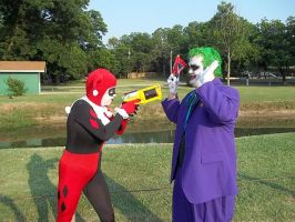 Joker vs. Harley by ClownGirlHarley