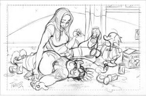 Liberty Meadows pinup_pencils by tombancroft