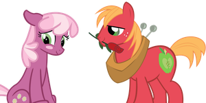Big Macintosh and Cheerilee by JoeMasterPencil