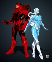 My Rebooted Hawk and Dove by sean-izaakse