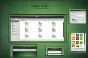 Sonar - GTK3 by half-left