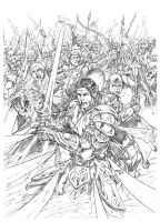 Dragon Slayer #37 Cover Pencils! by rogermed
