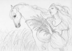 Epona (sketch) by janetchui