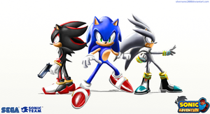 Sa3 wallpaper: Sonic and the hedgehogs by silversonic2000