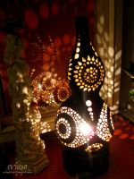 GOAUAN gourd lamp night by EvaLightArt