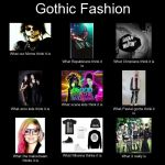 Gothic Fashion - What it really is meme by Gothchick1995