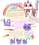 [carousel cat] - semi open species - [INFO] by Sableu