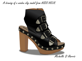 ASOS Wooden Clog Sandal by michelledh