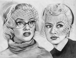 Marilyn Monroe and Betty Grable by JessicaJMiller