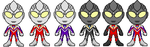 Ultraman Tiga Forms by YuusukeOnodera