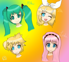 Vocaloid Heads :3 by Rin-luver