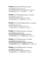 Font Book - Serif Fonts by kingjules71