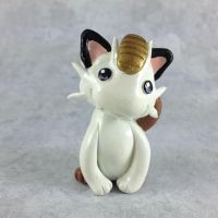 Meowth Sculpture by LeiliaClay