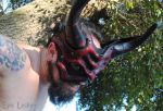 Bloodstone Greater Demon Leather Mask 4 by Epic-Leather