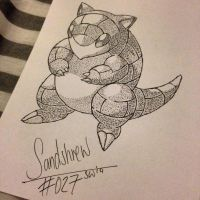 #027 - Sandshrew by poke-dots