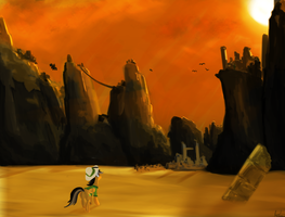 Daring Do and the Lost City by Rixnane