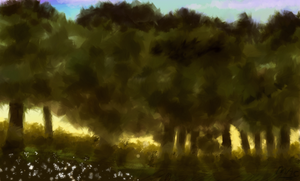 Speedpainting - Outside View by Fawfulhasfury