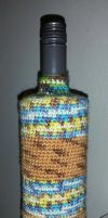 Recycled bottle decorations - Wannabe desert camo by KnitLizzy