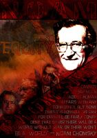 Noam Chomsky Poster by postbagboy