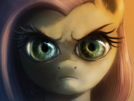 The Stare (colored) by Raikoh-illust