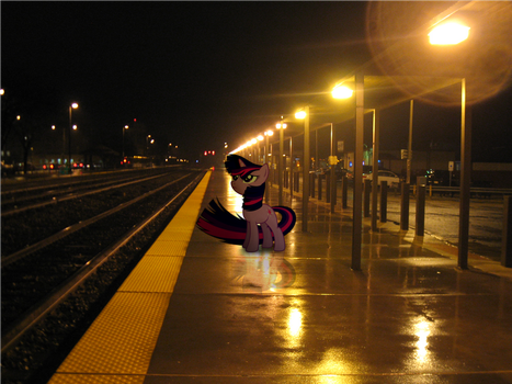 Waiting For A Train by statoose