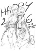 Cammy Jinx Happy New year 2016 by mehdianim