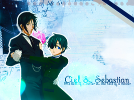Ciel and Sebby Wallpaper by Pink-Snowbunny