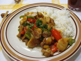 Oriental Sweet Chicken and Rice by DragonoftheEastblue