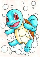 Squirtle Sketch Card by ibroussardart