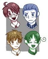 Hetalia headshots by Amphany