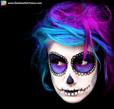 Sugar Skull Makeup by littlehippy