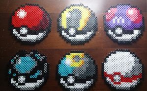 Pokeballs perler beads [part 1] #11 by isaletheia
