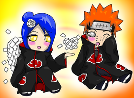 Konan and Pein Chibis by MusicLova4eva