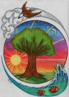 Nature's Four Elements by jujubeeze