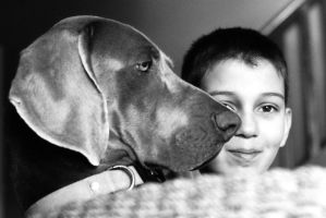 Dog and boy by PatriceChesse