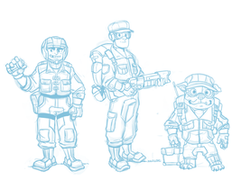 WIP - The Junior Peacekeepers by Kilo-Monster
