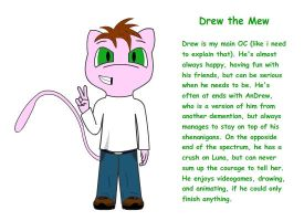 Drew the Mew: Ref sheet by DrewtheMew